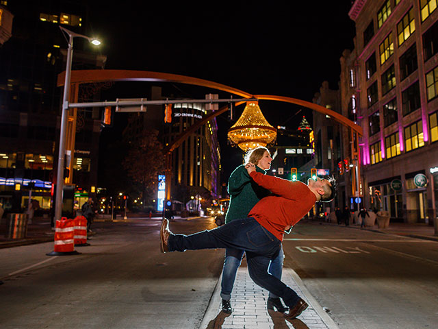 Wife dips Alex in the streets of Cleveland, OH