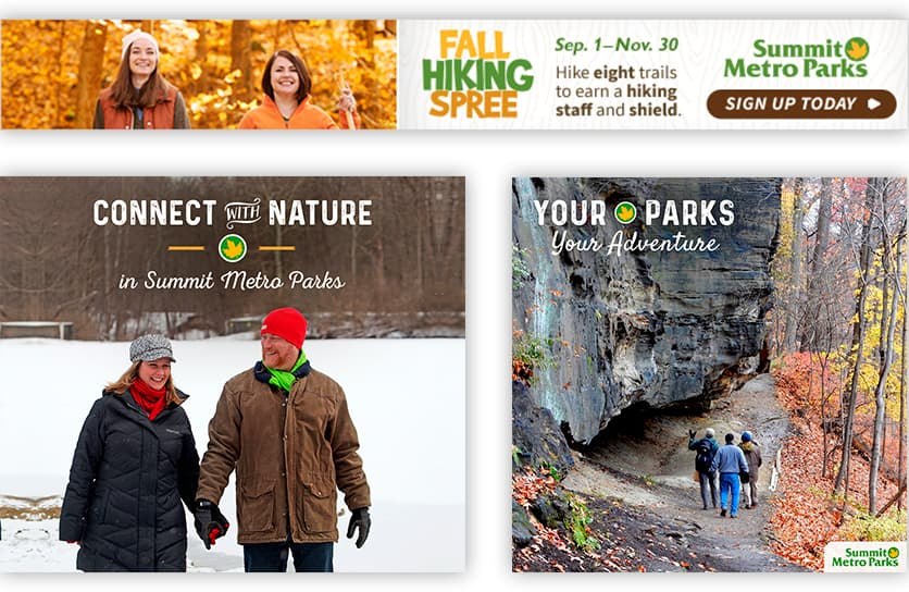 Summit Metro Parks Display Ads