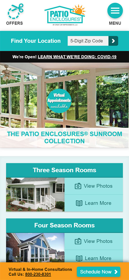 Cleveland Web Design - Patio Enclosures